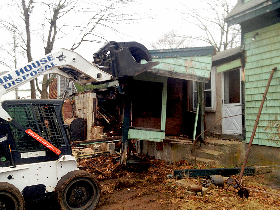Demolition of a Stoneham MA Home by In House Disposal