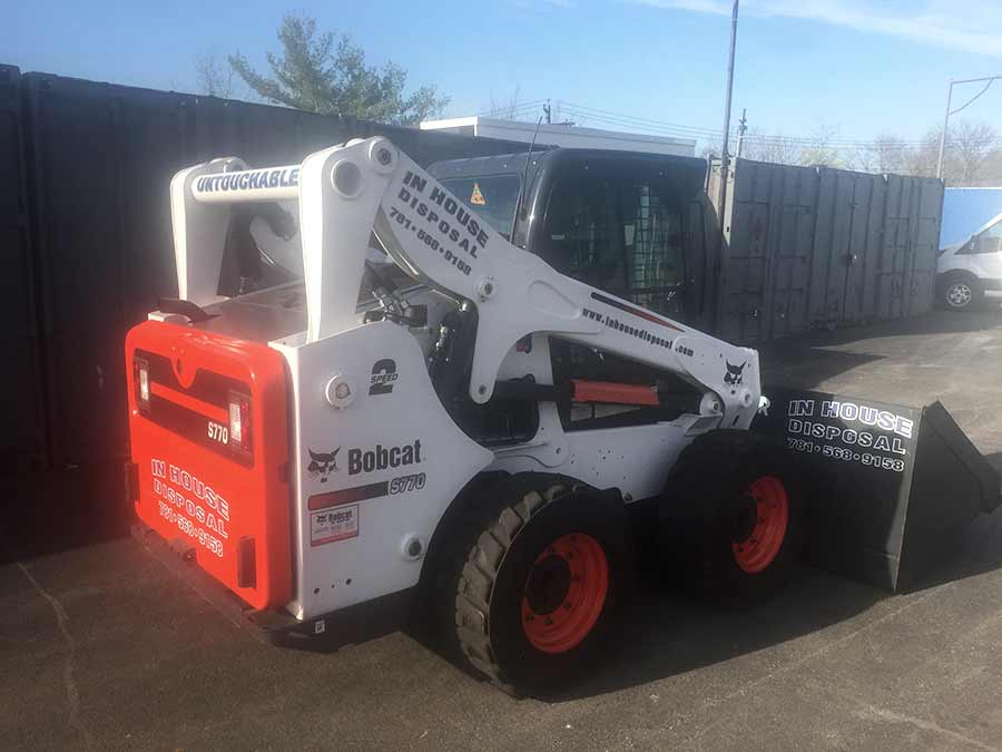 In House Disposal of Stoneham MA Demolition Services Bobcat